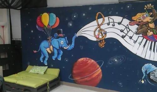 Murals by David Coley Art seen at Mabank Intermediate School, Mabank - Indoor Mural