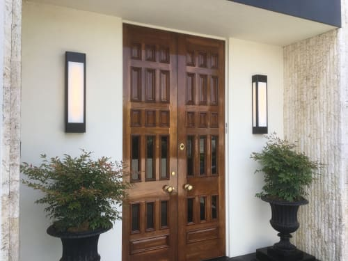 Sconces by Jim Misner Light Designs seen at Private Residence, San Francisco - Sea Cliff