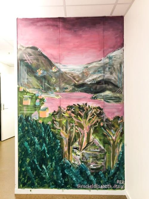 Murals by Rachel Elizabeth Design seen at Hyllestad, Hyllestad - Hyllestad Nomad Hub Mural
