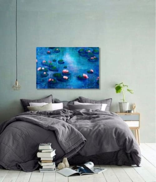 Paintings by Elena Parau seen at Private Residence, Bogotá - Water lily serenity