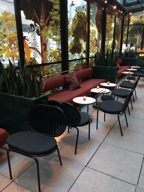Chairs by AKTTEM seen at Moxy NYC Chelsea, New York - Roll Collection - Lounge Chair