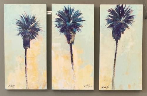 Paintings by Kathleen Keifer seen at Barsha Wines And Spirits, Manhattan Beach - Palm Trees painting