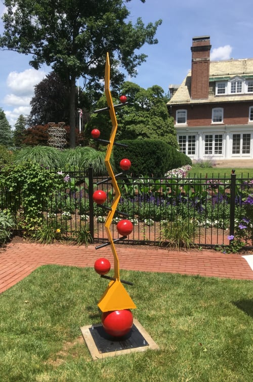 Public Sculptures by David Skora seen at Private Residence, West Hartford - Cascade