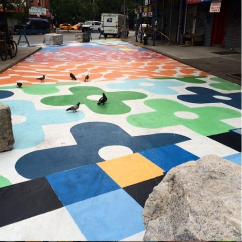 Street Murals by Kim Sillen Art  + Design seen at Division Street, New York - Modern Tapestry