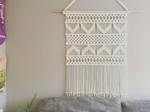 Macrame Wall Hanging by LoveCraft Collective seen at Private Residence, Langley - Macrame