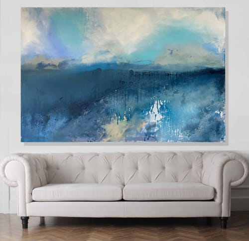 Paintings by Kathleen Rhee seen at Private Residence - The Sky The Sea You and Me