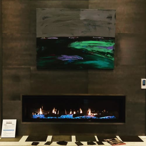 Paintings by Jamie Jorndt seen at Lakeside Fireplace, Lake Geneva - Abstract Painting