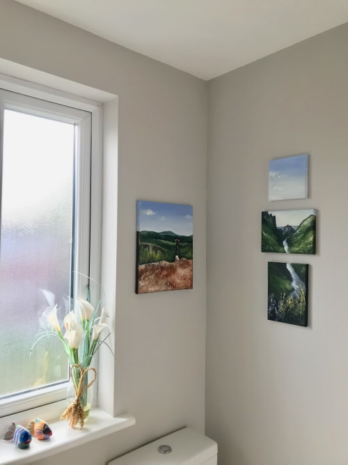 Paintings by Steph Carr Design seen at Private Residence, Isleworth - Laos Mountains Painting