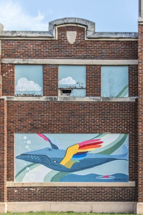 Street Murals by Toni Miraldi / Mural Envy seen at 708 Linden Ave, Memphis - Dream Big, Paint Memphis 2018