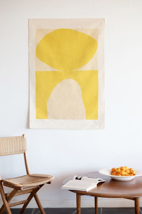 Art & Wall Decor by Upton seen at Private Residence, Topanga - Aurora - Gold | Print on Canvas