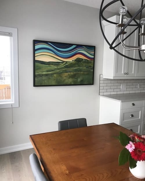 Paintings by Janifer Calvez seen at Private Residence - Landscape Painting