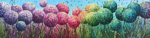 Paintings by Leanne Christie seen at Private Residence - Cotton Candy Dreamboat