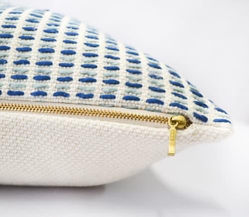 Pillows by Zuahaza by Tatiana seen at Creator's Studio, Bogotá - Naidi Blue Pillow