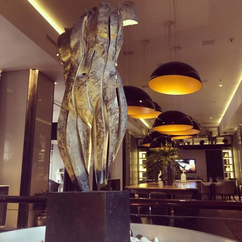 Sculptures by Anton Smit seen at African Pride Melrose Arch, Autograph Collection®, Johannesburg - Rite of Passage
