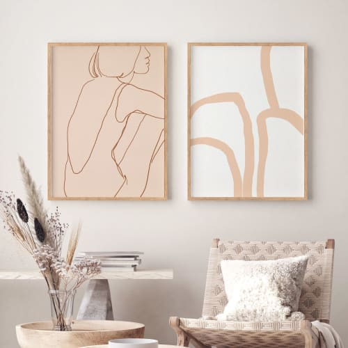 Paintings by forn Studio by Anna Pepe seen at Private Residence, New York - Framed Wall Art Set