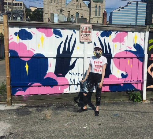 Street Murals by Shelby McLeod seen at Baldwin Village, Toronto - What You Do Is Magic