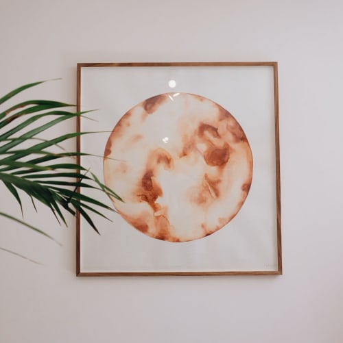 Paintings by Amy Keevy seen at Asha Eleven, Cape Town - A Milky Planet