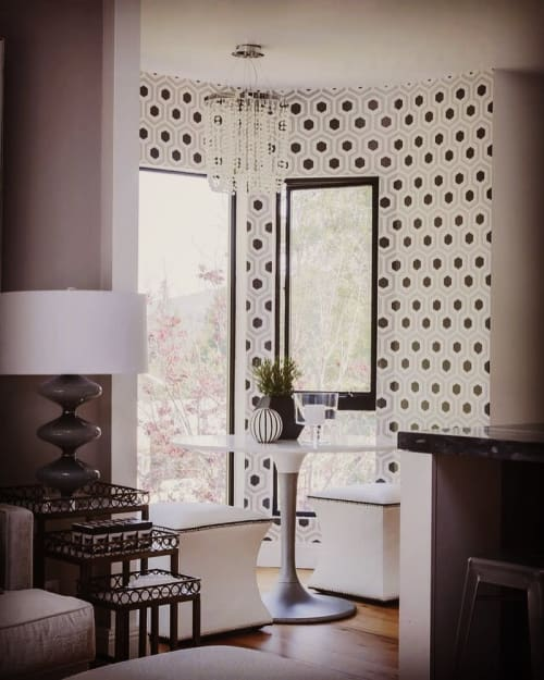 Wall Treatments by Caroline Lizarraga seen at Private Residence, Lafayette - Decorative Wall Pattern