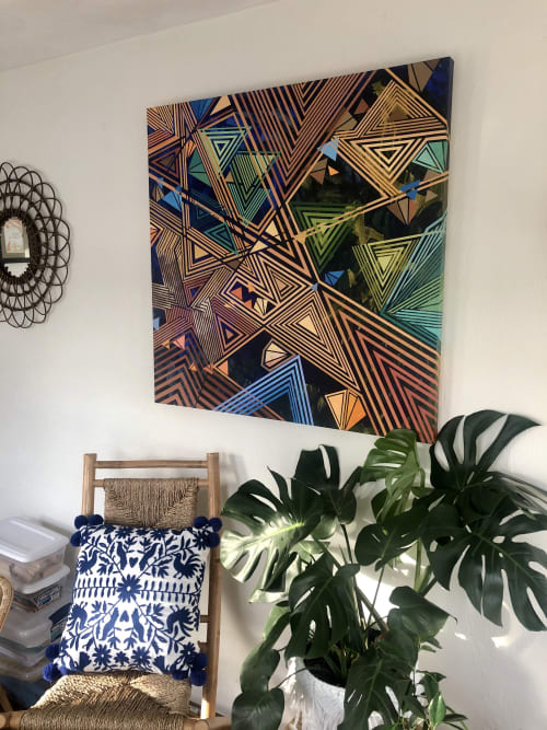 Paintings by Rae Heller seen at Private Residence, Hudson - Sunroom