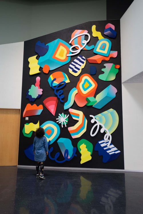Wall Treatments by Andy Arkley seen at Bellevue Arts Museum, Bellevue - CHROMAMOTION
