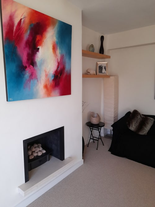 """Paintings by Jude Caisley seen at Creator's Studio, London - """"Sea of glass mingled with fire"""" painting"""