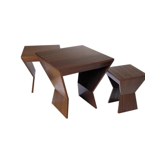 Tables by Antoine Proulx, LLC at Private Residence, Miami Beach - ET-54 Nesting Tables: Set of three