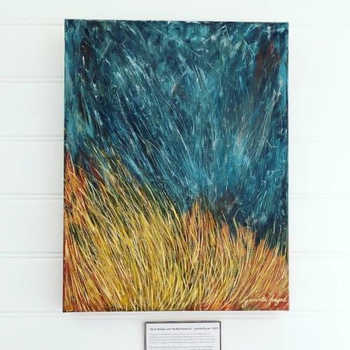 Storm Breaks over the Rye Paddock | Paintings by Jacinta Payne