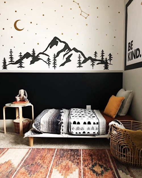 Art & Wall Decor by Kenna Sato Designs seen at Holly | Calling All Creators - Mountain and Night Sky Decal