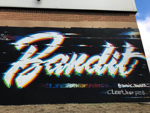 Street Murals by Candie seen at Cleethorpes, Cleethorpes - Glitch Bandit