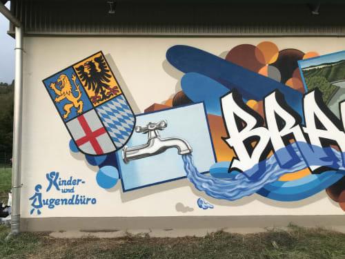 Murals by Dater127 Graffiti Art seen at Charlottenstraße, Braubach - FLOW CHART GRAFFITI