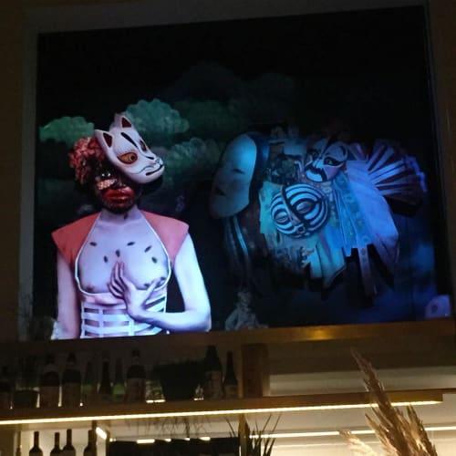 Paintings by Tanja Hirschfeld seen at Wabi Sabi Shibui, München - Ghost Women Installation