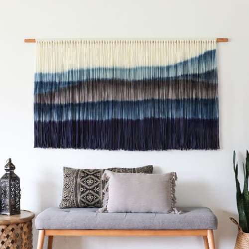 Paintings by Kelsey Cerdas Art seen at Private Residence - Santa Cruz, CA, Santa Cruz - Delmar Hand Dyed Fiber Wall Hanging