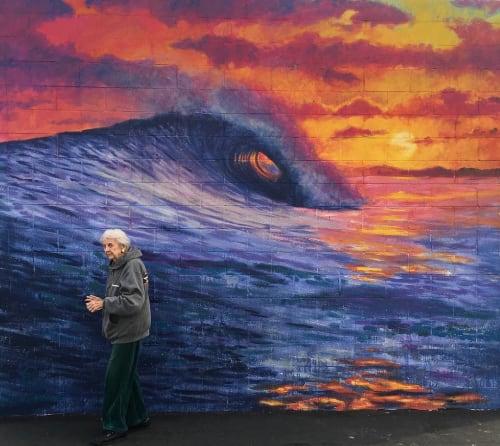 "Murals by Chapman Hamborg seen at Peterson Elementary, Huntington Beach - ""Wave"" Mural"