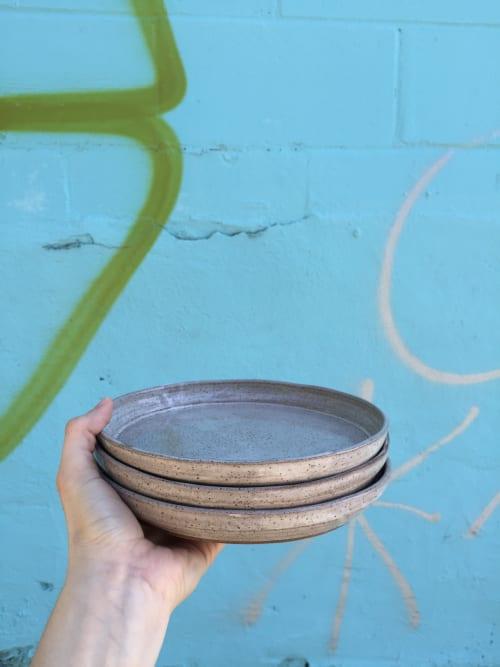 Ceramic Plates by Amanda Cimino seen at Cimino Ceramics Studio, South Portland - Speckled Plates