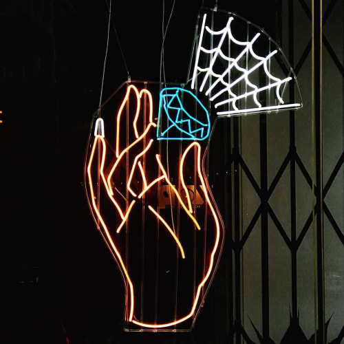 Meryl Neon Lighting By Pataky Seen At Fiat Lux San