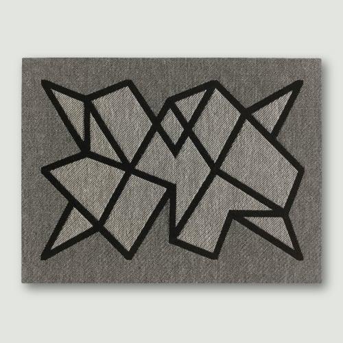Wall Hangings by Zuzana Licko seen at Creator's Studio, Berkeley - Woven wall art - modern geometric abstract textile weaving