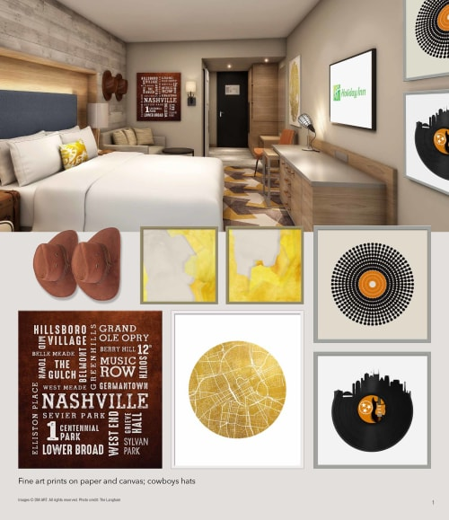 Art & Wall Decor by DM Art seen at Holiday Inn Nashville-Vanderbilt (Dwtn), Nashville - Nashville Hotel Art collection