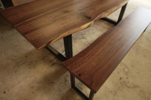 Tables by Blue J Woodworking seen at Private Residence, San Antonio - Live Edge Walnut Table