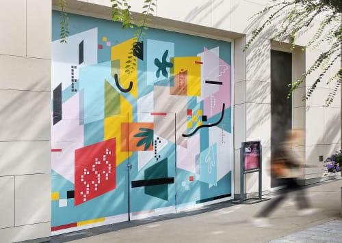 Murals by Kaye Lee Patton seen at The Shops at Buckhead, Atlanta - ESSSCAPE