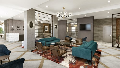 Interior Design by MONIOMI seen at Comfort Inn & Suites Miami International Airport, Miami Springs - Comfort Inn & Suites Miami