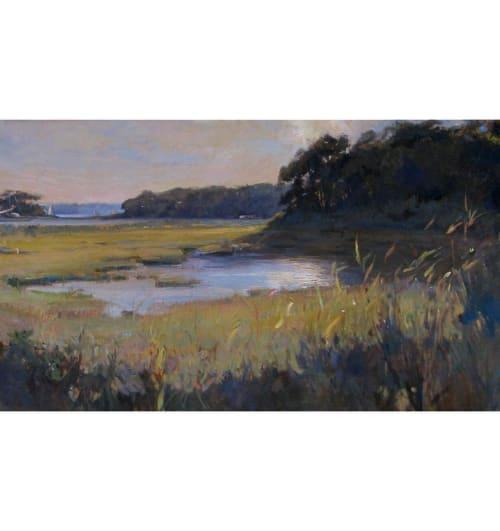 Paintings by Ramiro Sanchez seen at Private Residence, Sag Harbor - Mashomack