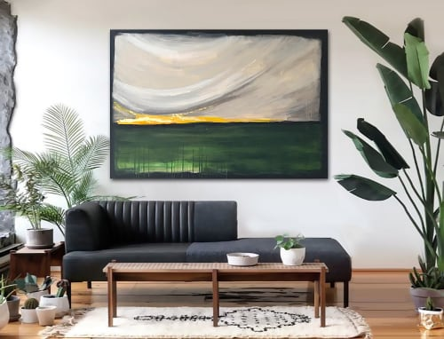 Paintings by Linnea Heide contemporary fine art seen at Private Residence, New Orleans - 'DAWN' original abstract painting by Linnea Heide