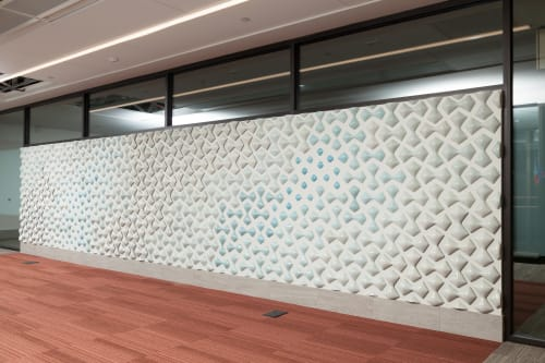 Wall Hangings by Tsehai Johnson seen at Byron Rogers Federal Building, Denver - Field Pattern #1, #2, and #3