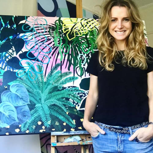 Paintings by Nicole Hasthorpe Art seen at Zachloe Lifestyle, South Melbourne - 'Kingdom' original artwork