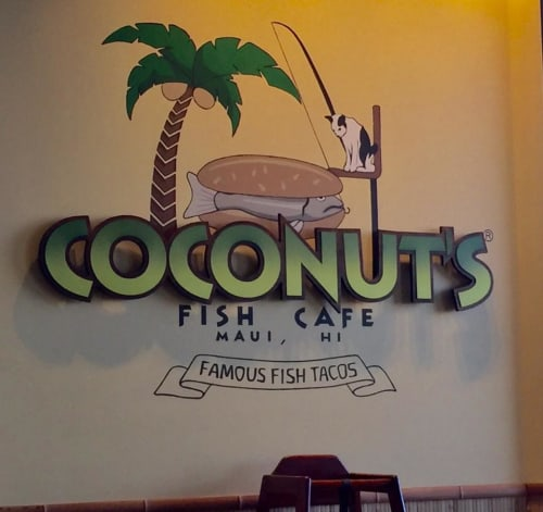 Murals by Suzanne Whitaker seen at Coconut's Fish Cafe, Scottsdale - Coconut's Fish Mural