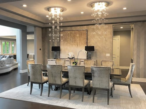 Chandeliers by ZUO seen at Private Residence, Chicago - Inertia Ceiling Lamp