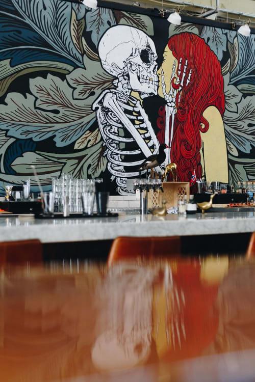 Murals by iMPuLSe Creative seen at Norseman Distillery, Minneapolis - Interior Mural