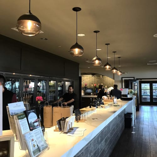 Pendants by Hennepin Made seen at Gloria Ferrer Wines, Sonoma - Parallel Pendants