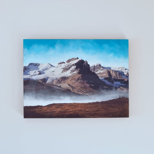 Paintings by Van Charles seen at Van Charles Art, Calgary - Athabasca Glacier