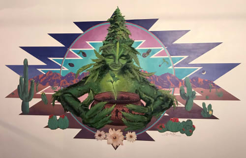 Murals by Annie Kyla Bennett Art seen at Desert Bloom Re-Leaf Center, Tucson - Tucson Mother Plant mural